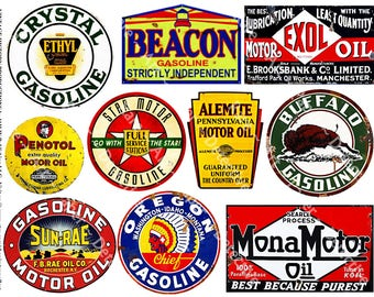 vintage gas and oil