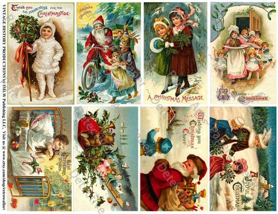 Cartoline Di Natale Vittoriane.Cartoline Di Natale Vittoriani Stampato Holiday Clipart Antico Padre Natale Carta Vintage Santa Clausola Carte Cartoline Di Natale Allegre 651