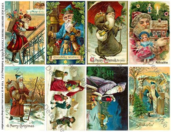 Cartoline Di Natale Vittoriane.Cartoline Di Natale Vittoriani Stampato Carte Vintage Di Babbo Holiday Clipart Antico Padre Natale Carta Cartoline Di Natale Allegre 648