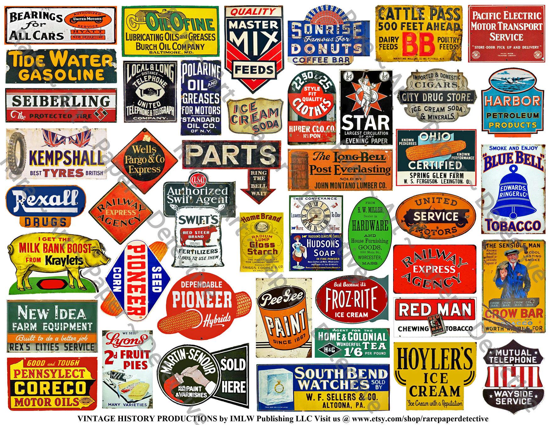 e543530fd96 Model Railroad Signs Printed Sheet 54 Coal Oil Farm and