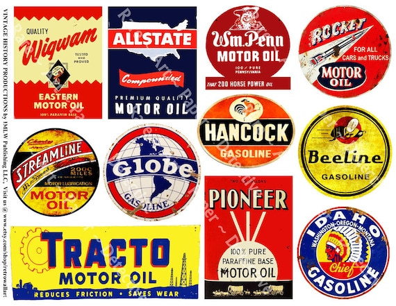 oil can label signs printed garage clip art automobile etsy