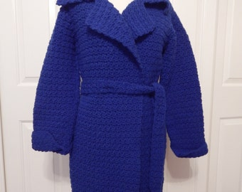 hand crocheted ladies SWEATER JACKET