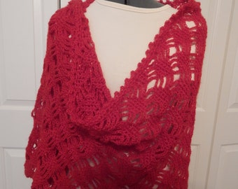 hand crocheted shawl