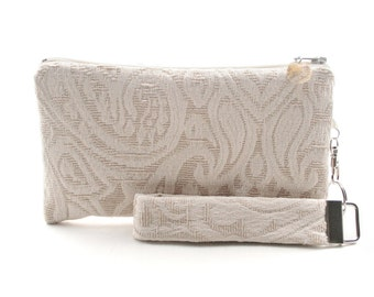 Ivory bridal clutch is a rustic small purse for your wedding