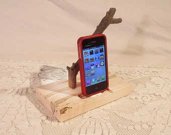 iPhone - iPod Dock - Charger and Sync Station - Natural - Back to Nature -- iDock