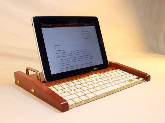 iPad Tablet Workstation - Keyboard - Tablet Dock - Cherry - iPad, IPhone,  Tablet Bluetooth Keyboard Computer Desktop Workstation