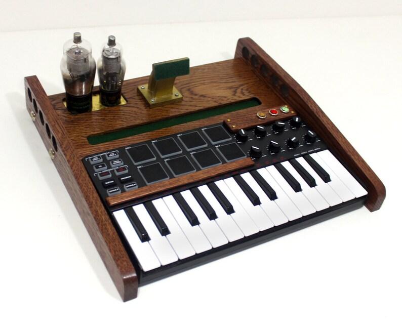 ipad tablet music workstation midi keyboard pads and knobs etsy. Black Bedroom Furniture Sets. Home Design Ideas