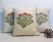 Succulent Print Pillow, Decorative Succulent Print Pillow, Desert Landscape Cactus Succulent Pillow, Desert Home Decor, Southwest