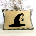 Witches Hat Halloween Pillow