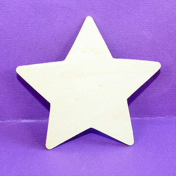 Wood Star Shape Unfinished Cut Out 35 Inches 3mm