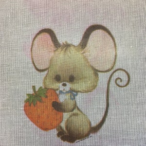 needlepoint canvas little girl dressed in a fancy dress 12 inches square kid baby room decor partially worked