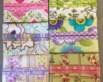 Handmade travel tissue pack covers set of 6 bright flowers  teacher gift bunco prizes get well gift purse accessory