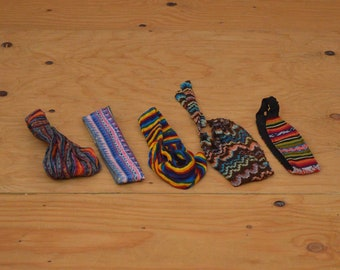 Vintage Ethnic Set Of Headbands Various Styles Rainbow Of Colors