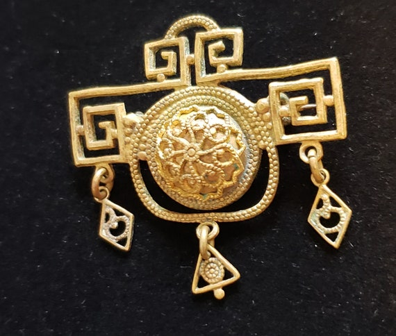 Make an Offer! Victorian Etruscan Brooch Pin Antiq
