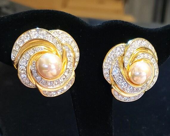 Nolan Miller Earrings, Sparkling Rhinestone Earrin