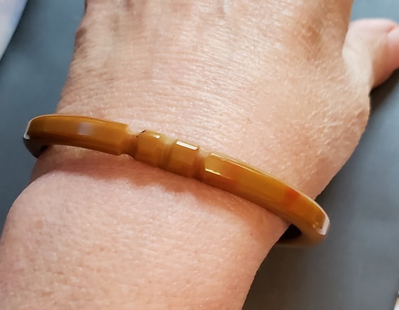 Make an Offer! Bakelite Bracelet Deeply Carved Bak