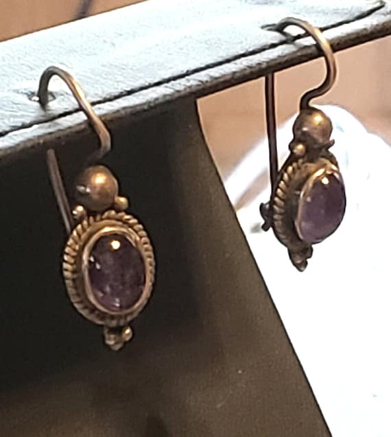 Make an Offer! Sterling Silver Earrings, Amethyst