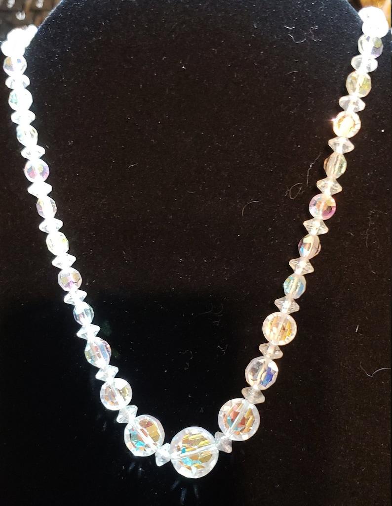 Mid-Century Necklace Brilliant Crystal Necklace Single Strand Necklace Bridal Necklace Wedding Necklace Special Occasion Necklace