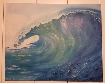 Original oil on canvas, water painting