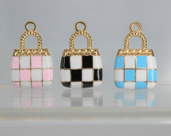 Acosta Jewellery Pink Crystal Lips Keyring Bag Charm
