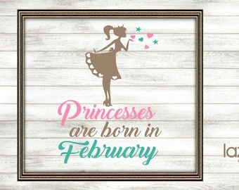 Princesses Born SVG Cut File