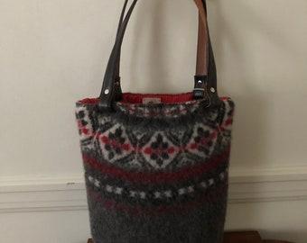 FairIsle Felted Tote Bag