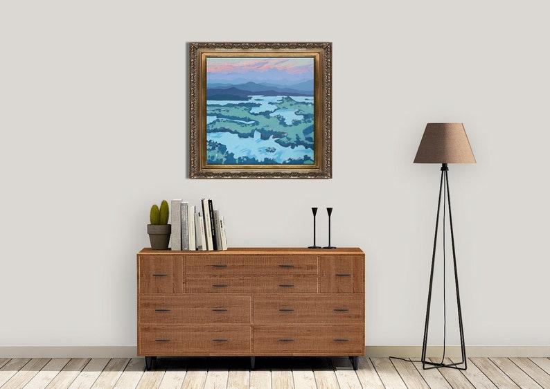 Large Landscape Painting Original Art Original Acrylic image 0