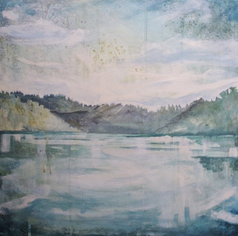 Original Landscape Painting  Mountain Park Series  Lake image 0