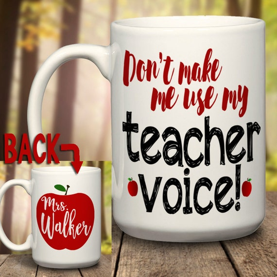 teacher mug teacher gift a great teacher christmas present etsy
