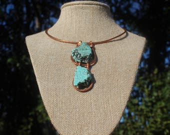 Copper and Turquoise neck cuff