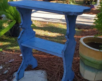 Hand Built End Table- Painted Side Table