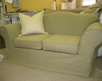 Superb Loveseat Slipcover Etsy Caraccident5 Cool Chair Designs And Ideas Caraccident5Info