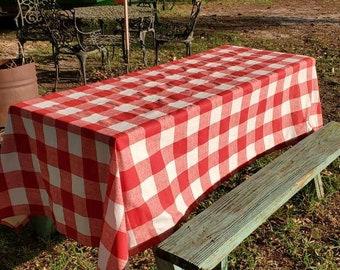 Buffalo Check Cotton Tablecloth