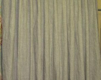 Linen Drapery Panels-Single-Double-Triple Width Drapery Panels-Lined Drapery Panels-One Pair Linen Drapes