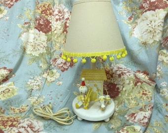 Vintage Nursery Table Lamp-Nursery Rhyme Table Lamp-Hey Diddle Diddle Nursery Theme Lamp with Shade-Whimsical Nursery Decor-Vintage Nursery