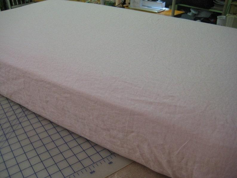 Ruffled Crib Blanket and Washed Linen Crib Sheet