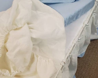 Classic Nursery Linens-Tailored Crib Skirt- Fitted Crib Sheet- Change Pad Cover- Crib Pillow