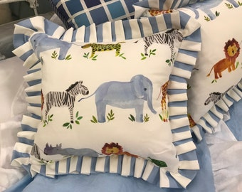 Zoo Animal Crib Pillow