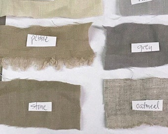 FABRIC SAMPLES-Samples of Washed Linen and Cotton Options