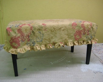 Slipcover for Your Existing Small Bench-Cocktail Ottoman Slipcover-Small Bench Slipcover-Your Fabric or Mine
