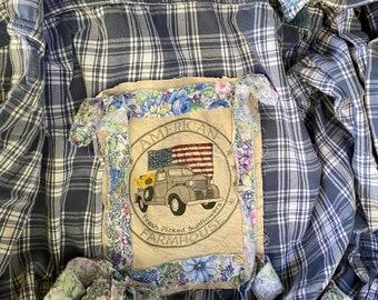 Ragamuffins- Distressed Autumn Farm and Garden Over Shirt Jacket-Hayride Jacket-Fireside Jacket