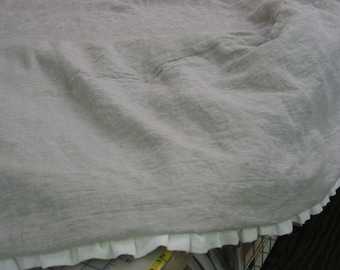 Linen Tailored Ruffle Bedding-Washed Linen Duvet and Euro Shams-One Inch Ruffled Linen Bedding Pieces-Twin-Full-Queen-King