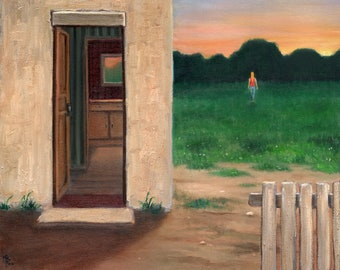 Summer evening - oil painting