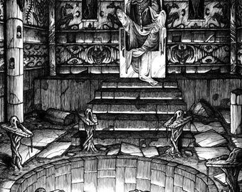 The high priest - Ink drawing