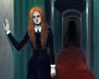 Psychopomp - oil painting