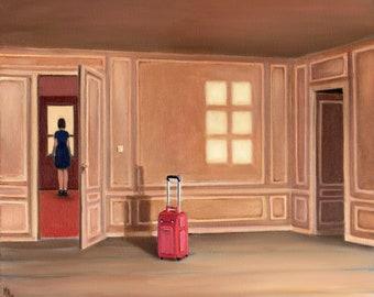 Leaving - oil painting
