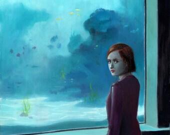 Aquarium III - oil painting