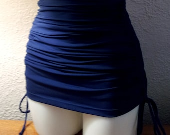 ecb80899e6 Tummy Control Bottoms with attached Adjustable length skirt in Navy