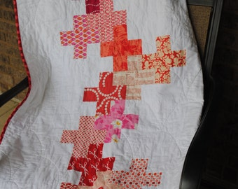 Cross My Heart Lap Quilt