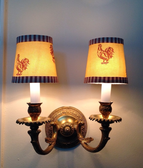 French Country Chandelier Lamp Shades Clip On